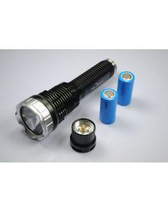 5-modo TrustFire TR-J10 Liminus SST-90 LED linterna con baterías, cargador y caja de regalo