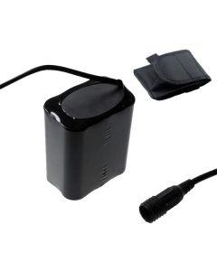 Tornillo fijada interfaz 4V 6 x 18650 13200mAh bicicleta linterna batería para luz de bicicleta