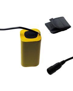 Tornillo fijada interfaz 4V 4 x 18650 8800mAh bicicleta luz batería para luz delantera de bicicleta LED