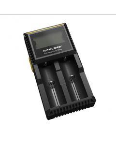 Nuevo Nitecore D2 Digcharger cargador LCD pantalla Nitecore cargador de batería para 26650 18650 18350 16340 14500 10440