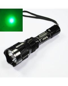 UniqueFire HS-802 Cree luz verde de largo alcance Linterna Led